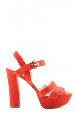 di Lauro High Heel Sandaletten rot Casual-Look