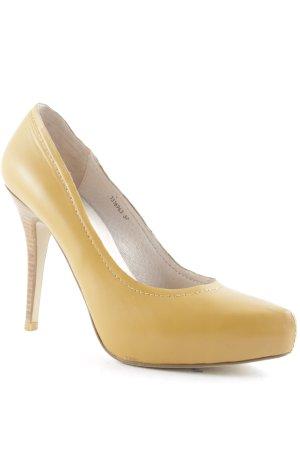 Di Lauro High Heels dunkles Gelb elegant klassisch