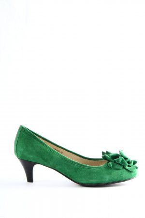 di Lauro High-Front Pumps green casual look