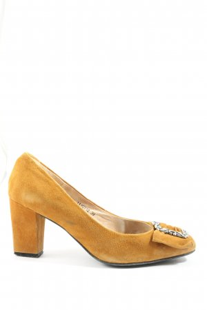 di Lauro Hochfront-Pumps blassgelb Casual-Look