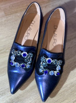 DI LAURO - Pumps - Teaum in blau- alles Leder!