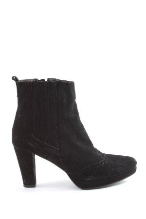 di Lauro Reißverschluss-Stiefeletten schwarz Casual-Look