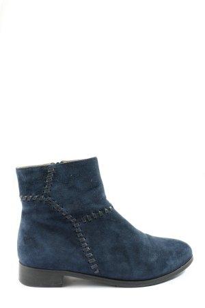 di Lauro Reißverschluss-Stiefeletten blau Casual-Look