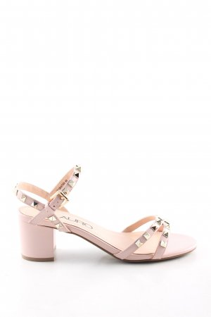 di Lauro Strapped High-Heeled Sandals pink casual look