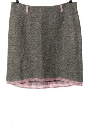 Di Piu Miniskirt light grey-pink striped pattern casual look