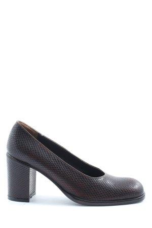 di Sandro Classic Court Shoe brown-black allover print casual look