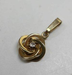 Diamant 333 gold Kettenanhänger Goldanhänger