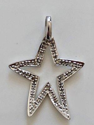 Diamant 333 Weissgold Gold Anhänger  Kettenanhänger Stern Juwelierpunze