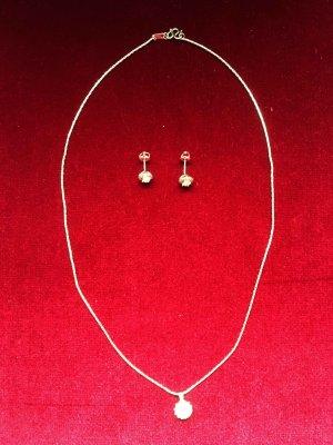 Diamant Celebration Schmuckset  Halskette mit Anhänger und Ohrringe