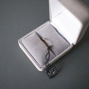Diamant Memoire Ring echtes Roségold - New One