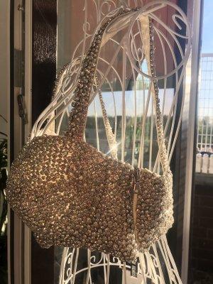 Diamanten Bustier Moschino silber BH Top Glass Strasssteine Kristalle Diva M/L silver crystal bra diamonds