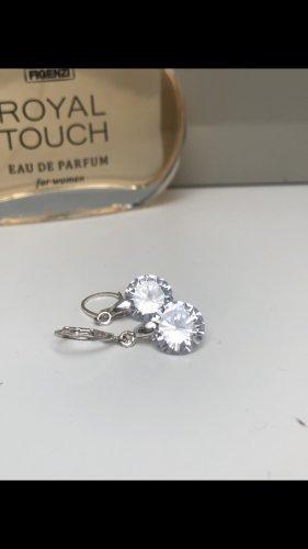 Orecchino d'argento grigio chiaro
