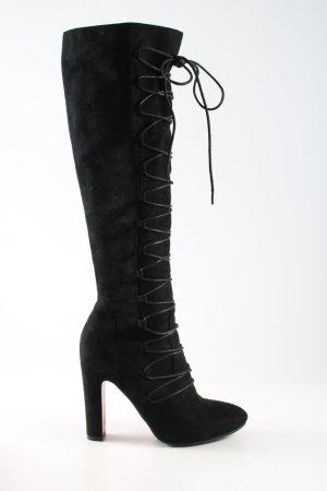 Diamantique High Heel Stiefel schwarz klassischer Stil