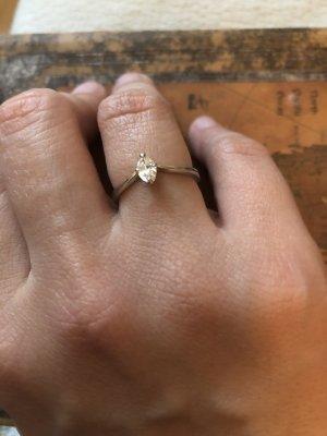 Złoty pierścionek jasnoszary Metal