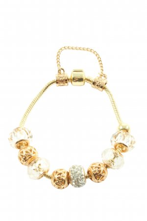 Diamond style Charm Bracelet gold-colored elegant