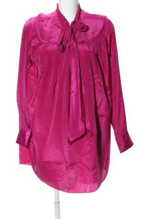 Diamonds & Pearls Blusenkleid pink Glanz-Optik