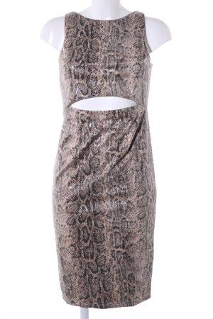 Diamonds & Pearls Cut-Out-Kleid braun-wollweiß Animalmuster Elegant