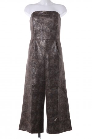 Diamonds & Pearls Jumpsuit bronzefarben Allover-Druck Glanz-Optik