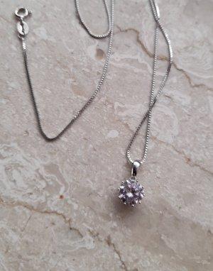 Diamonique Necklace silver-colored-light pink