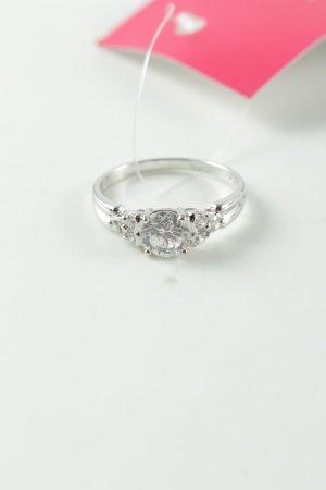 Diamonique Zilveren ring zilver casual uitstraling