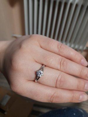 Diamonique Silver Ring white-silver-colored