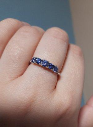 Diamonique Silver Ring multicolored