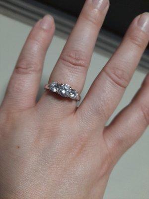 Diamonique Silver Ring silver-colored-white