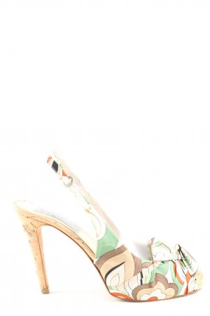Diane B. High Heel Sandaletten Allover-Druck Casual-Look