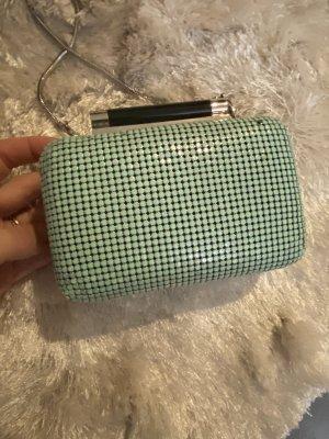 Diane von Fürstenberg * Box Clutch * mint * silber * NP 349€