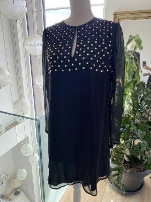 Diane von Furstenberg Vestido tipo túnica negro-color oro