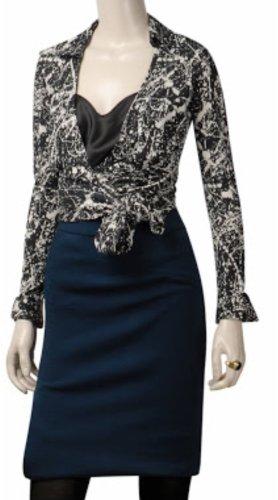 Diane von Fürstenberg DvF wickeltop wickelbluse hemd cropped top seide