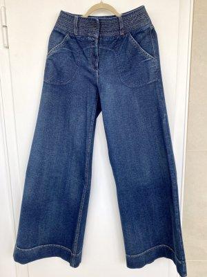 Diane von Fürstenberg Jeans large bleu foncé