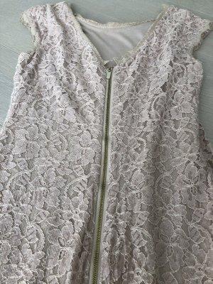 Diane von Furstenberg Robe en dentelle crème-or rose