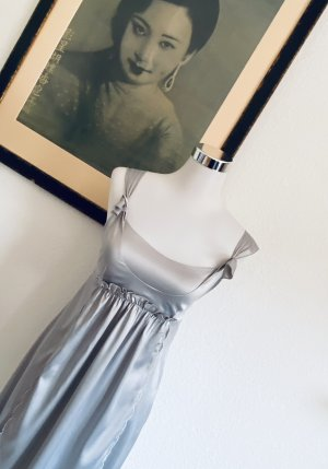 Diane von Fürstenberg Vestido de Verano color plata Seda