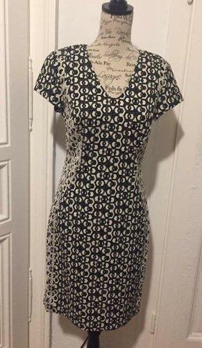 Diane von Furstenberg Pencil Dress white-black cotton