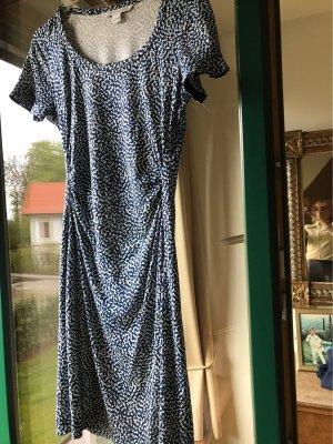 Diane von Furstenberg Robe d'été bleu acier-blanc cassé