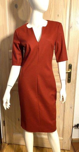Diane von Fürstenberg Robe fourreau rouge foncé laine