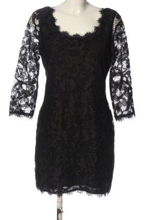 Diane von Fürstenberg Robe à manches longues noir élégant
