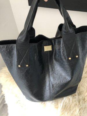 Diane von Furstenberg Borsa shopper nero-sabbia Pelle