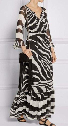 Diane von Furstenberg Vestido largo negro Seda