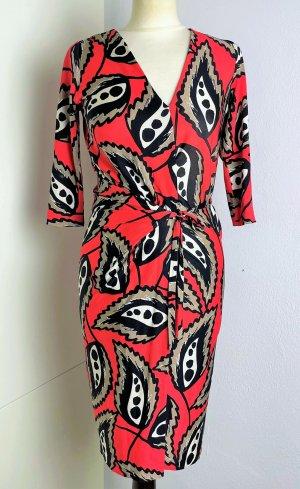 Diane von Furstenberg Vestido cruzado multicolor Seda