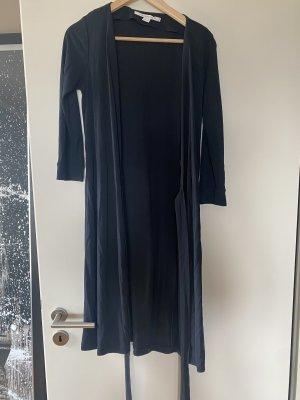 Diane von Fürstenberg Midikleid Kleid M schwarz Wickelkleid