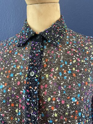 Diane von Fürstenberg Seiden Tweed Bluse Gr 6