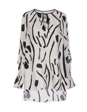 Diane von Furstenberg Silk Blouse white-black silk