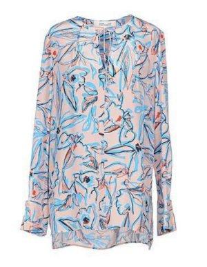 Diane von Furstenberg Silk Blouse multicolored silk