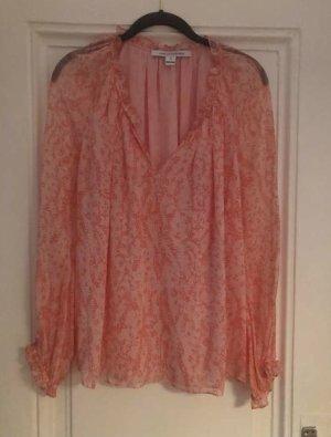 Diane von Furstenberg Silk Blouse nude silk