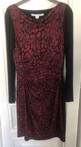 Diane von Furstenberg Jersey Dress carmine-black silk