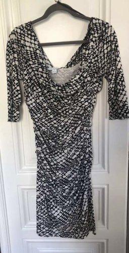 Diane von Furstenberg Jersey Dress black-white silk