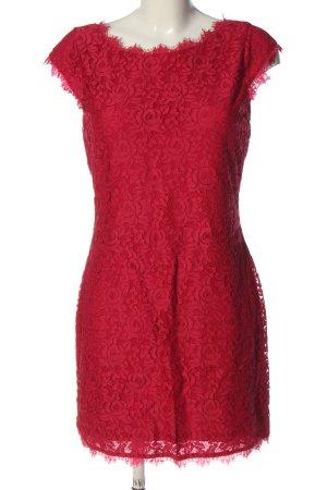 Diane von Fürstenberg Robe en dentelle rouge élégant