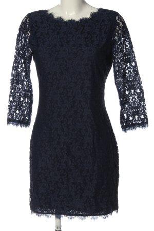 Diane von Fürstenberg Robe en dentelle bleu élégant